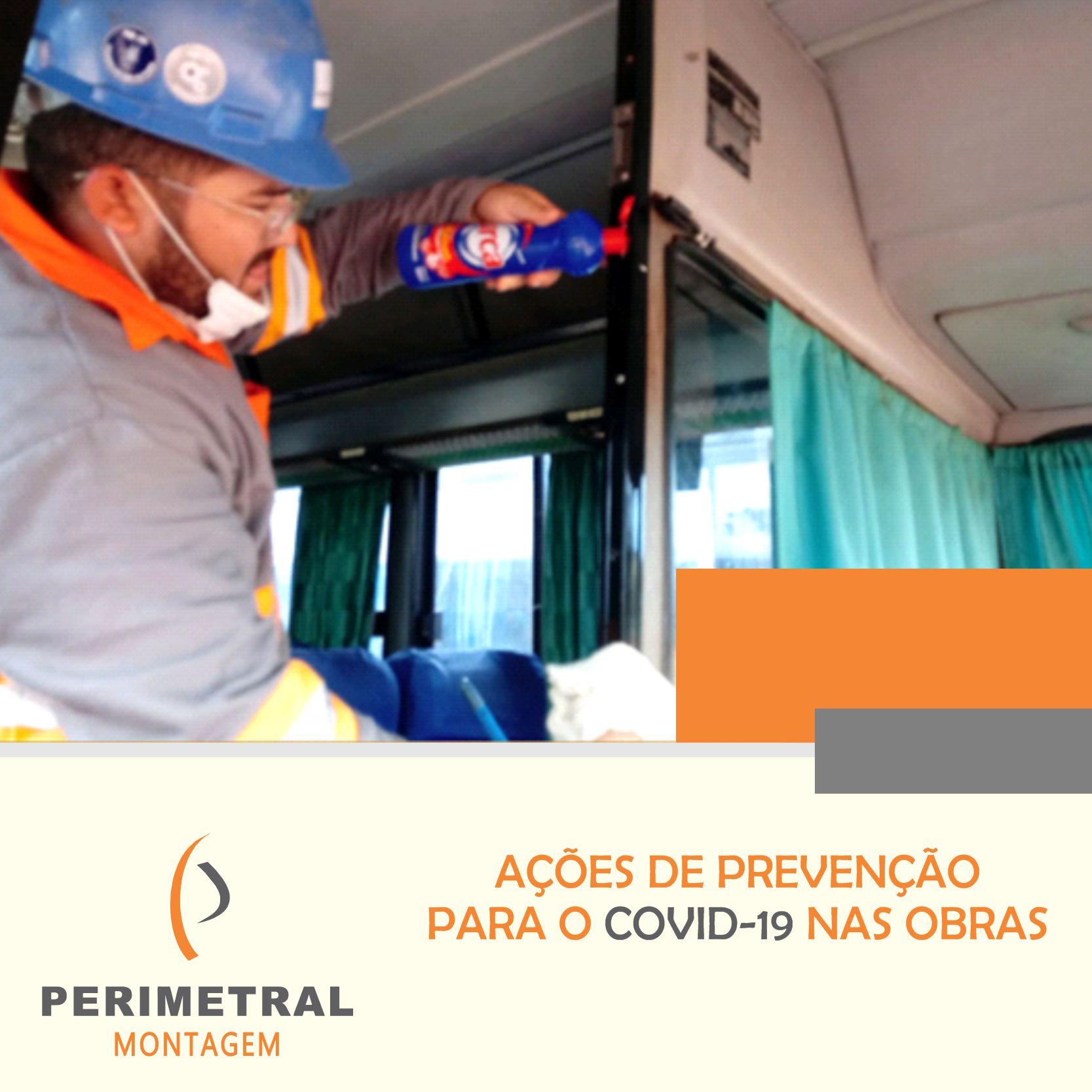 Ação para prevenção de COVID-19 nas obras